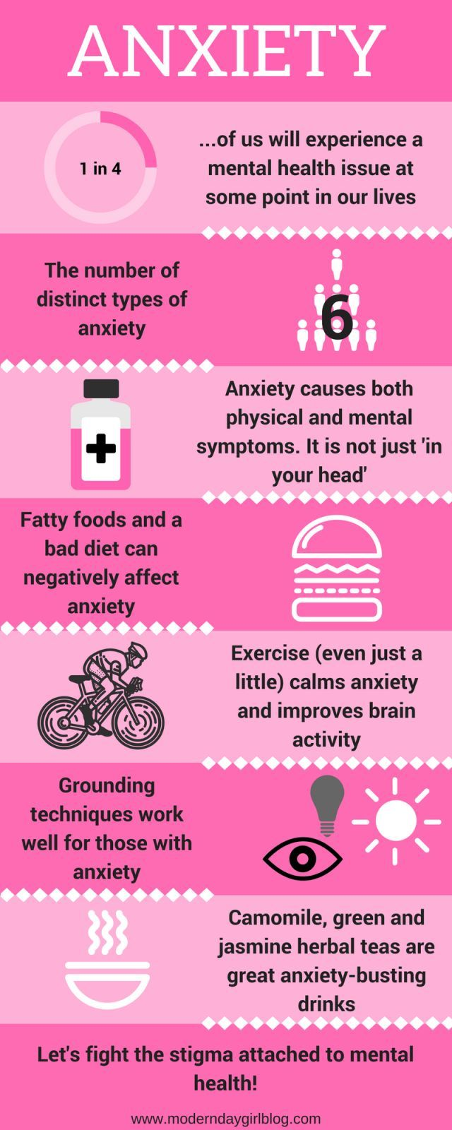 Here's an infographic which shows visually how anxiety affects us all. It includes simple tips and w
