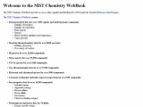 National Institute of Standards and Technology WebBook