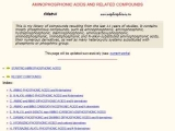 Aminophosphonic Acids and Related Compounds